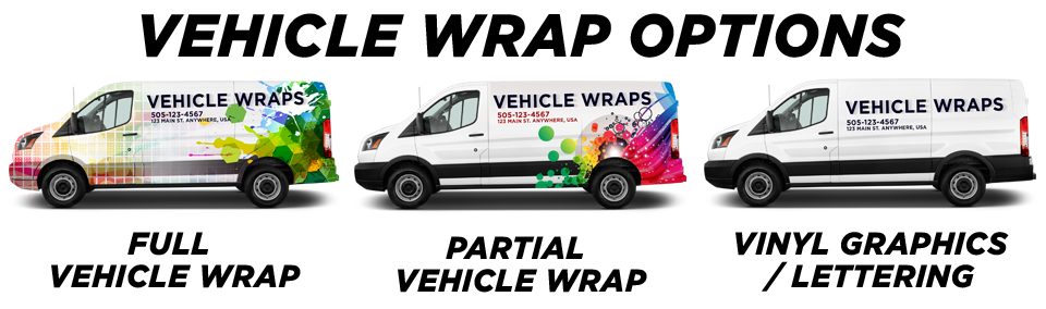 Larkspur Vehicle Wraps vehicle wrap options